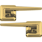 Lugano Lever On Square Rose Polished Brass