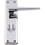 Lugano Bathroom Door Handles Polished Chrome