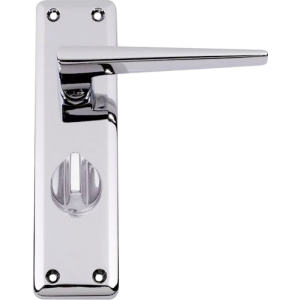Lugano Privacy Door Handles Polished Chrome