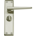 Lugano Privacy Door Handles Satin Nickel