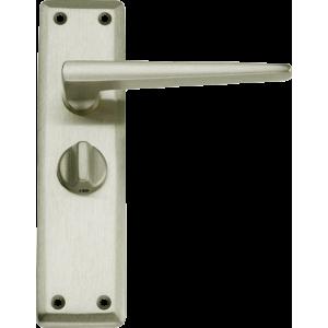 Lugano Privacy Door Handles Satin Nickel
