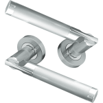 Lydia Lever On Rose Door Handles Polished Satin Chrome