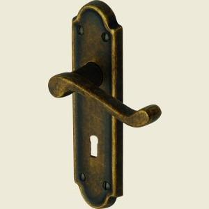 Meridian Distressed Brass Door Handles