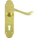 Savoy Sash-Lock Handles Polished Brass