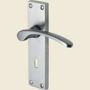 Sophia Satin Chrome Door Handles