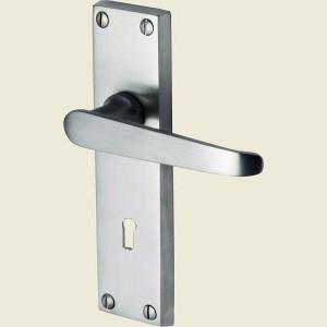 Victoria Satin Chrome Door  Handles
