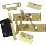 Victorian Scroll Brass-Ware Bathroom Lock Pack