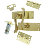 Victorian Scroll Brass-Ware Latch Lever Pack