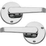 Victorian Lever On Rose Door Handles Polished Chrome