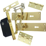 Victorian Scroll Brass-Ware 3-Lever Lock Pack