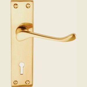 Victorian Scroll Brass Door Handles