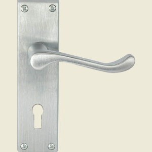 Victorian Scroll Satin Chrome Door Handles