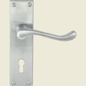Victorian Scroll Satin Chrome Door Handles