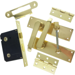 Victorian Brass-Ware Bathroom Lock Pack