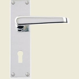 Victorian Straight Lever Polished Chrome Door Handles