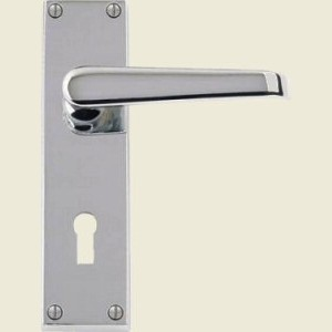 Victorian Straight Lever Satin Chrome Door Handles