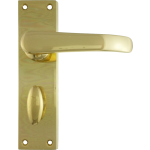 Windsor Bathroom Lock Door Handle Polished Brass