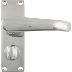 Windsor Privacy Lever Handles Polished Chrome