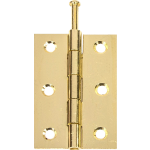 75mm 1840 Pattern Loose Pin Butt Hinge Brass Plated
