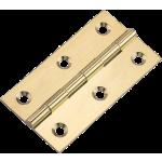 76 X 41mm Cabinet Door Butt Hinge Polished Brass