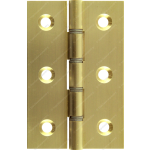 76mm DSW Butt Hinge Natural Brass