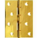 102mm DPBW Heavy Duty Hinge Polished Brass