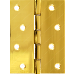 101mm DSW Butt Hinge Polished Brass