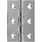76mm DPBW Butt Hinge Polished Chrome