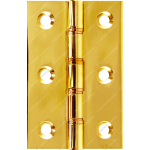 76mm DPBW Butt Hinge Polished Brass
