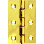 76mm DSW Butt Hinge Polished Brass