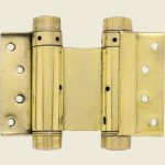 100mm Polished Brass Double Action Spring Hinge
