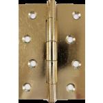 4 Inch 1838 Pattern Brass Plated Steel Door Hinge