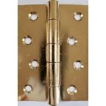 4 Inch 451 Pattern Brass Plated Steel Door Hinge