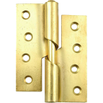 100mm Right Hand Rising Butt Hinge Brass