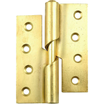 100mm Left Hand Rising Butt Hinge Brass
