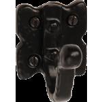 52mm Tudor Single Coat Hook Black Antique