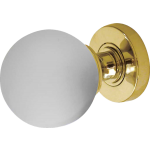JH5204 Polished Brass Frosted Glass Ball Door Knob Set