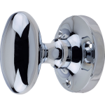 JV34B Polished Chrome Oval Door Knob Set