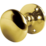 JV35B Polished Brass Mushroom Door Knob Set