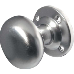 JV35B Satin Chrome Mushroom Door Knob Set
