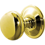 JV46 Polished Brass Concealed Fit Mushroom Door Knob Set