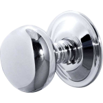 JV46 Polished Chrome Concealed Fit Mushroom Door Knob Set