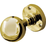 JV48 Architectural Quality Polished Brass Ball Door Knob Set
