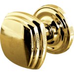 JV64 Polished Brass Square Door Knob Set