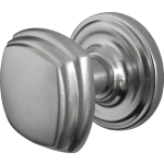JV64 Satin Chrome Square Door Knob Set