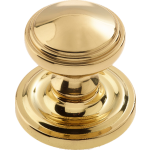 JV68 Polished Brass Lined Door Knob Set