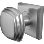JV74 Satin Chrome Square Door Knob Set