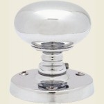 JV35 Architectural Quality Polished Chrome Mushroom Door Knob Set