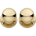 Sprung Mortice Door Knobs Polished Brass