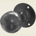 JAB5 Black Antique Ball Door Knob Set